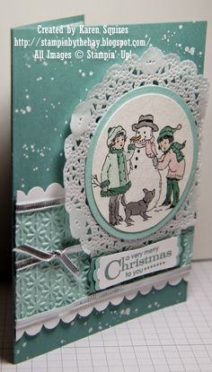 Stampin' By The Bay: Winter is Calling Christmas Card