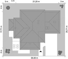 Rzut projektu Dom z widokiem Roof Plan, The Hamptons, House Plans, Grey's Anatomy, New Homes, Floor Plans, House Design, How To Plan, Villa