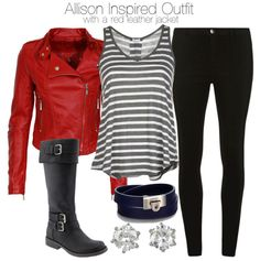 Splendid v neck shirt / Vegan leather motorcycle jacket, $77 / Dorothy Perkins high waisted jegging / Old Navy faux leather riding boots / Salvatore Ferragamo jewelry / Juicy Couture cz earrings