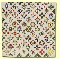 Quilts In The Barn: Profile on Patty Harants.  Patty Harants's replica of Rebecca Garretson Wickersham's 1854 appliquéd album quilt. Patty will have a limited supply of cd's with the pattern available at her workshop The book is long out of print.