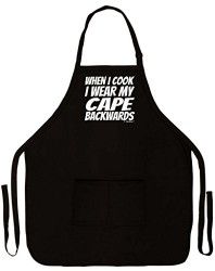 When I Cook I Wear My Cape Backwards Gag Gift Funny Apron for Kitchen BBQ Barbecue Cooking Baking Grilling Bacon Two Pocket Apron for Super Chef Home Gourmet BBQ Competition Black for these Dutch oven camp cooking tips Grandpa Gifts, Gifts For Dad, Bbq Gifts, Funny 50th Birthday Gifts, 70th Birthday, Fortieth Birthday, Sister Birthday, Aprons For Sale, Funny Aprons For Men