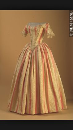 1840s evening gown