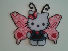 Butterfly Hello Kitty hama perler by nath38490