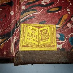 Bound by Blackie and son - #bookstagram #bookbinding #justtheticket #allthecolours #endpapers #marbled #theleedslibrary