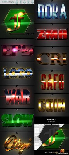10 Text Effects Vol 42 23990797 Photoshop Actions, Adobe Photoshop, News Sites, Text Effects, 3d Rendering, Typography, 3d Text, Design Styles, Digital