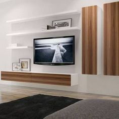 Image result for modern floating tv wall