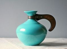 Vintage turquoise teapot...
