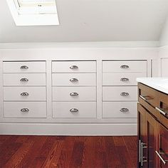 Photo: David Prince | thisoldhouse.com | recess storage drawers into knee walls to save space #AtticRemodel