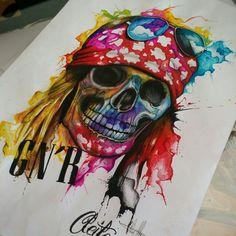 Axl Rose aquarela. Watercolors...