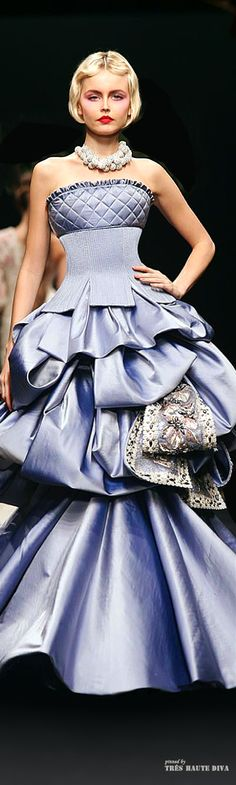 Modern Fairytale / Cinderella / karen cox.   Georges Hobeika Blue Gown