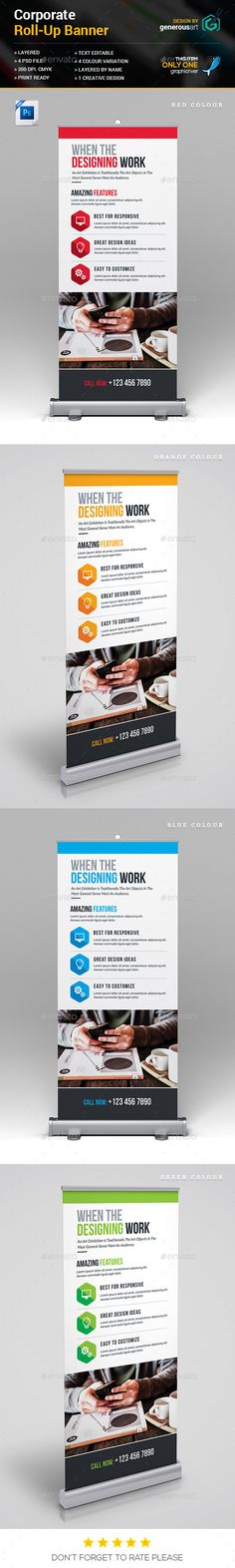 Fashion Roll-Up Banner Template PSD   Roll-Up Banner Templates ...