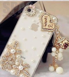 iPhone 4 4s Case , Luxury Rhinestone iPhone case , Bling iPhone 44s Case Cover ,Flower iPhone case