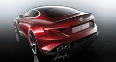 Cool Toyota C-HR 2017: Alfa Romeo Giulia 2015 Sketches (Auto & Design | Article)... Check more at http://24auto.tk/toyota/toyota-c-hr-2017-alfa-romeo-giulia-2015-sketches-auto-design-article/