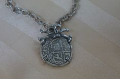 Pirate Jewelry Atocha Coin Pendant in Atocha Silver