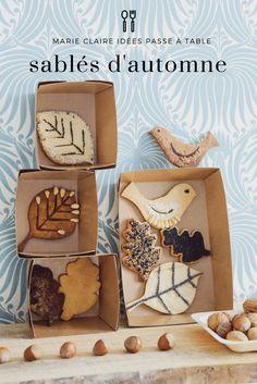 recettes de sablés d'automne - Marie Claire Idées Cookie Desserts, No Bake Desserts, Home Recipes, Fall Recipes, Sable Recipe, Biscotti Cookies, Lunch Snacks, Gorgeous Cakes, Creative Food