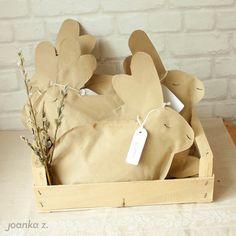 Joanka-z - blog o szyciu: Pakujemy prezenty: wielkanocne zajączki