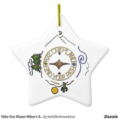 Hike Our Planet Hiker's Soul Compass Ceramic Ornament