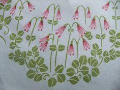 Swedish vintage tablecloth Printed linneas
