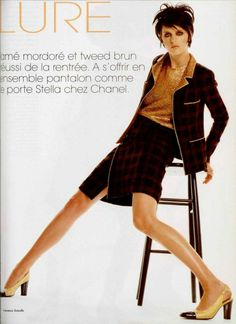 1996 Chanel boutique tout ce qu'on aime, tailleur à veste appuyée et jupe portefeuille en tweed et lamé