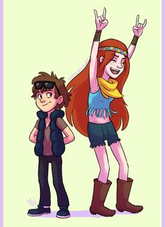 Woodstick Festival in Gravity Falls, by Alex Hirsch! Dipper looks so funnily weird/cute as a 'hipster' XD I'm going to cosplay wendy in this Hinata Hyuga, Naruto Uzumaki, Dipper Pines, Dipper Y Mabel, Dipper And Wendy, Wendy Corduroy, Fall Tumblr, Dipcifica, Gravity Falls Au