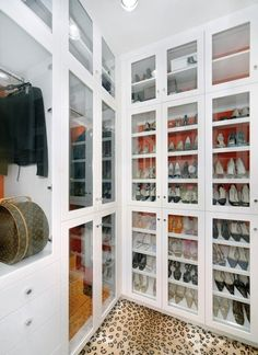 You shoes or bags would never get dusty and you can still see everything...WANT!!
