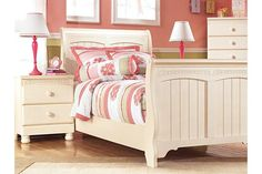 Cream Cottage Cottage Retreat Twin Sleigh Bed View 3