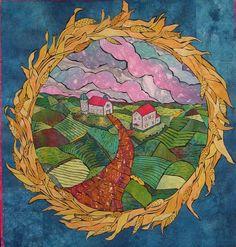 Art Quilt by Laura Wasilowski, textile artist