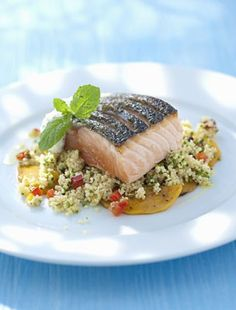 Vajban sült omlós lazac   femina.hu Tuna, Fish, Chicken, Vegetables, Vegetable Recipes, Atlantic Bluefin Tuna, Cubs
