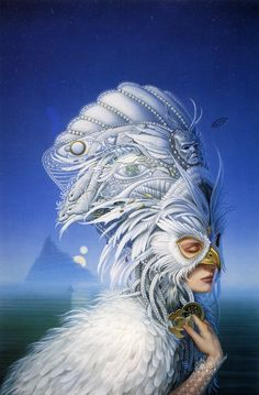 "Michael Whelan, Cover art for ""The Snow Queen"" by Joan D. Vinge"