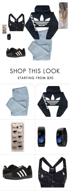 """Adidas Tuesday"" by anahayes on Polyvore featuring adidas and Samsung"