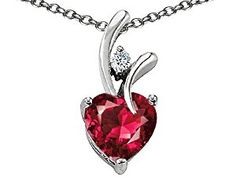 Original Star K(tm) Heart Shaped 8mm Created Ruby Pendant in .925 Sterling Silver  http://electmejewellery.com/jewelry/necklaces/pendants/original-star-ktm-heart-shaped-8mm-created-ruby-pendant-in-925-sterling-silver-com/