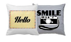 Free Templates DIY Decorative Throw Pillows With A Message. Add the images to your own pillows. Diy Throw Pillows, Accent Pillows, Decorative Throw Pillows, Pillow Inspiration, Diy Curtains, Decorating Tips, Retro Camera, Cushions, Crafty