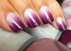 Purple Ombré Nails  #nailart - Go to bellashoot.com or #beautyapp for beauty inspiration!