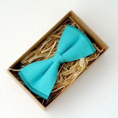 Mint blue bowtie Mint blue mens bowtie blue necktie by Luwrine