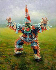 """""""Courir de Mardi Gras - Because he doesn& have a good head"""", 16 """"x oil on can . """"Courir de Mardi Gras – Because he has a bad head"""", 16 """"x oil on canvas. All rights are owne Mardi Gras Date, Mardi Gras Food, Mardi Gras Beads, Mardi Gras Centerpieces, Mardi Gras Decorations, Mardi Gras Outfits, Mardi Gras Costumes, Carnival Masks, Carnival Costumes"""