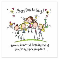 birthday cards tagged 50th juicy lucy designs - 50th Birthday Wishes