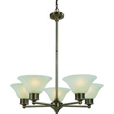 Z-Lite Dynasty Collection Burnished Nickel/Chocolate Finish Five Light Chandelier