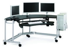 Ergonomic Computer Desk Height – Ergonomic Computer Desk Height – Ergonomic Co… Custom Computer Desk, Gaming Computer Desk, Computer Build, Gaming Setup, Ikea Series, Black Office Furniture, Desk Height, Home Desk, Modern