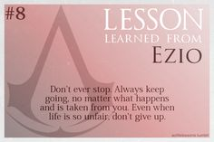 Assassin's Creed Life Lessons from Ezio