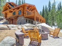 Breckenridge Cabin Rental Exterior With Gas Fire Pit