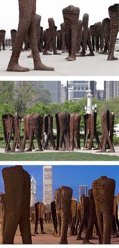 Magdalena Abakanowicz, Agora, 2006 Outdoor Sculpture, Modern Sculpture, Outdoor Art, Abstract Sculpture, Sculpture Art, Magdalena Abakanowicz, Installation Art, Art Installations, Statues