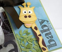 Giraffe card - made with the Stampin' Up owl punch