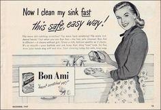 1947 Print Ad for Bon Ami