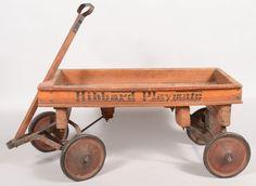 """""""Hibbard Playmate"""" Wooden Coaster Wagon. Natural wood w"""