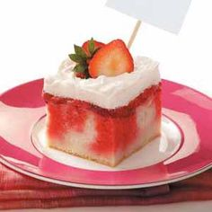 Strawberry Shortcake Dessert Recipe from Taste of Home -- shared by Michele Trachier of Pasadena, Texas