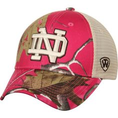 Notre Dame Fighting Irish Top of the World Women's Doe Realtree Camo Xtra Blaze Trucker Adjustable Snapback Hat - Pink - $23.99