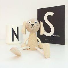 Arne Jacobsen typography and wooden dog! www.skandivis.co.uk  #Arnejacobsen #typography #danishdesign