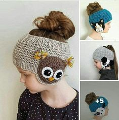 Bandeau fille - Her Crochet Learn To Crochet, Crochet For Kids, Crochet Baby, Free Crochet, Knit Crochet, Baby Knitting Patterns, Crochet Patterns, Loom Knitting, Hand Knitting