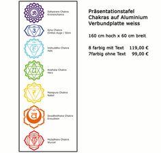 Präsentationstafel 7 Chakra System für dein Yogastudio oder deine Gesundheitspraxis praktisch, wenn du das Chakrasystem zur Heilung verwendest...#lichterleben #chakra #wandtattoos