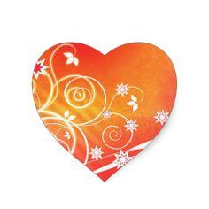 Pretty florals on orange sticker